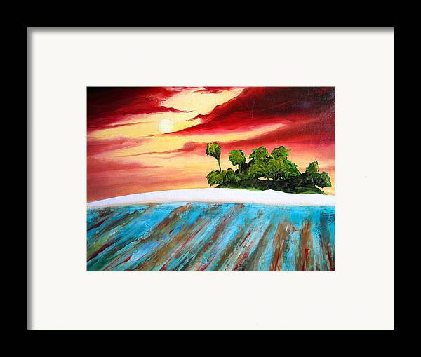 Surf Framed Print featuring the painting Island Fever by Ronnie Jackson