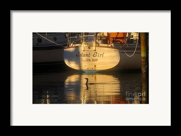 Sailing Boat Framed Print featuring the photograph Island Girl by David Lee Thompson
