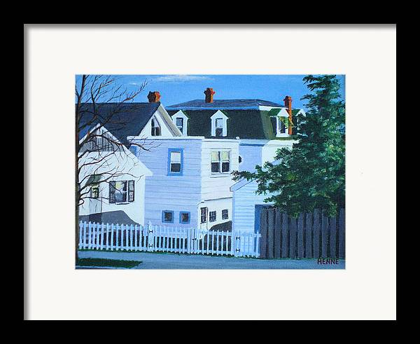 Island Heights Framed Print featuring the painting Island Heights Back Yards by Robert Henne