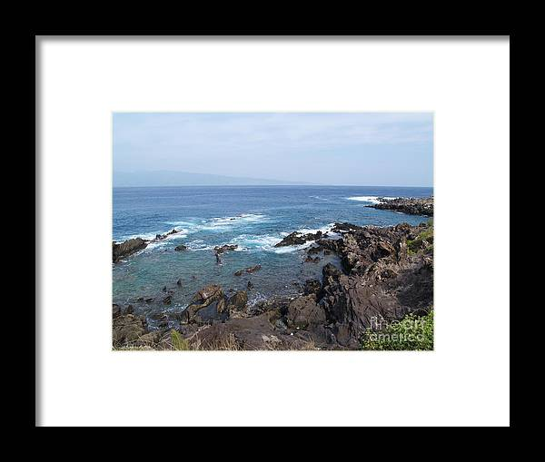 Hawaii Framed Print featuring the photograph Island In The Distance by Krista Kulas