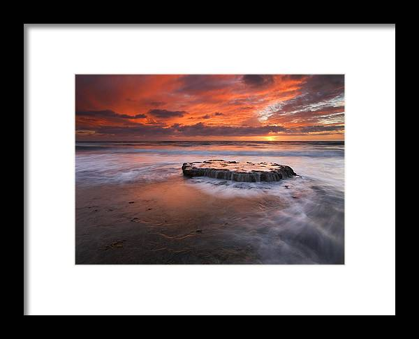 Island Framed Print featuring the photograph Island In The Storm by Mike Dawson