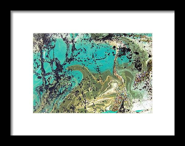 Island Framed Print featuring the painting Island Lagoon by Dawn Hough Sebaugh