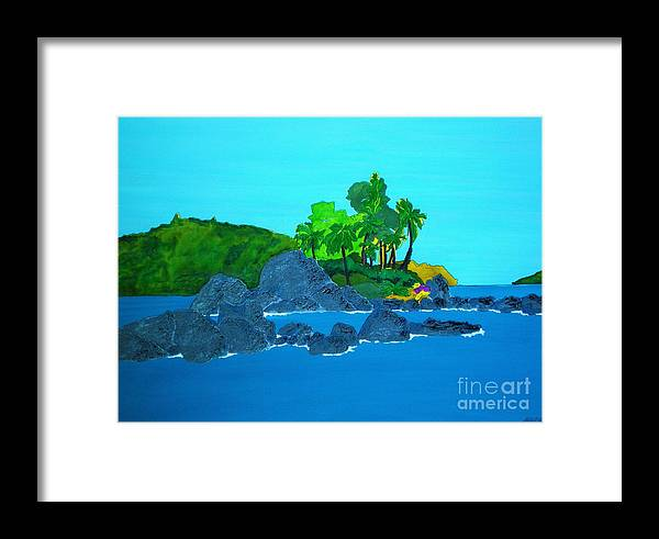 Watercolour Framed Print featuring the painting Island by Michaela Bautz