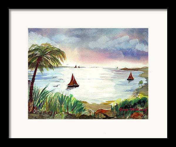 Island Landscape Framed Print featuring the print Island Of Dreams by George Markiewicz