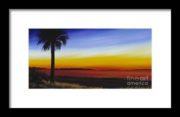 Palmetto Tree Framed Print featuring the painting Island River Palmetto by James Christopher Hill