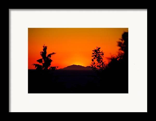 Island Framed Print featuring the photograph Island Sunset by Paul Kloschinsky