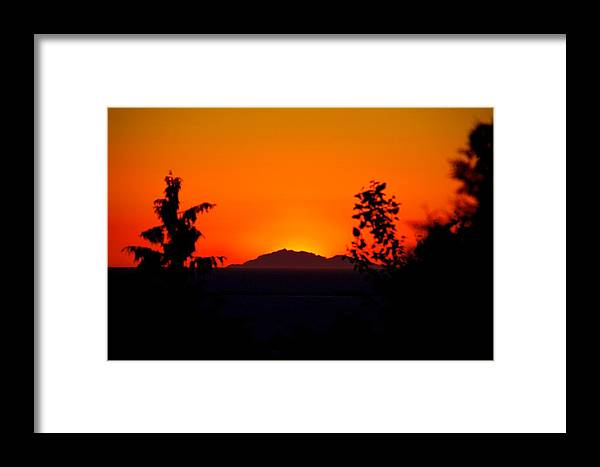 Island Framed Print featuring the photograph Island Sunset by Paul Kloschinsky