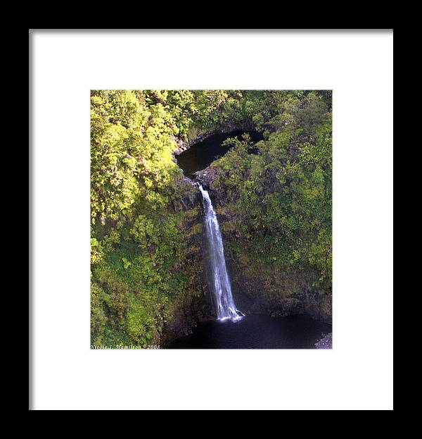 Landscape Framed Print featuring the photograph Island Waterfall by Nicole I Hamilton