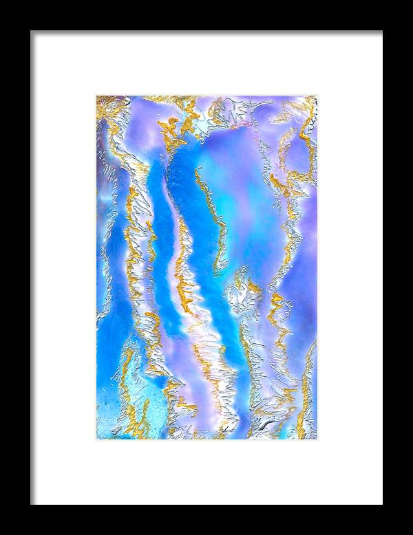 Framed Print featuring the painting Islands In My Heart by Heather Hennick
