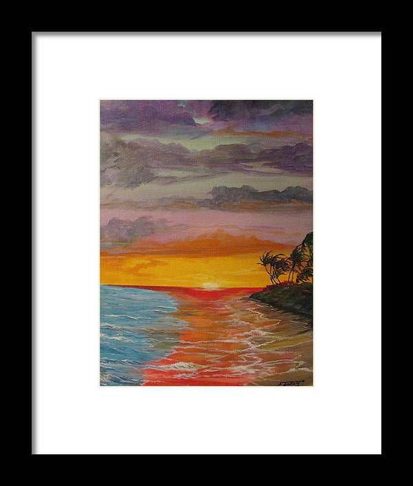 Seascape Framed Print featuring the painting Islands Of Delight II by Dave Farrow
