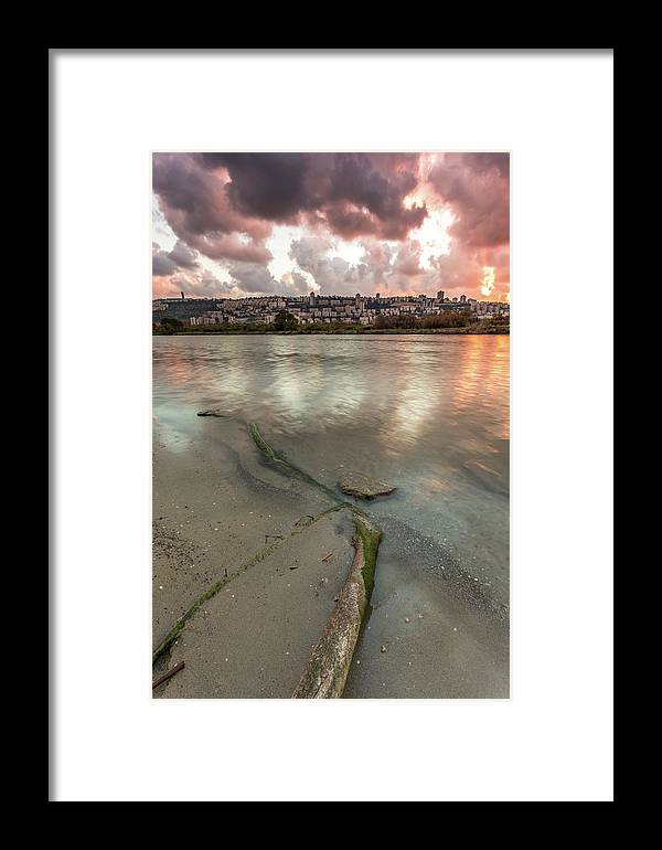 Israel Coast Framed Print featuring the photograph Israel Coast by Yatir Nitzany