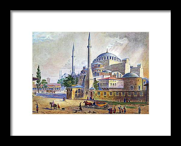 Constantinople Framed Print featuring the painting Istanbul by Munir Alawi