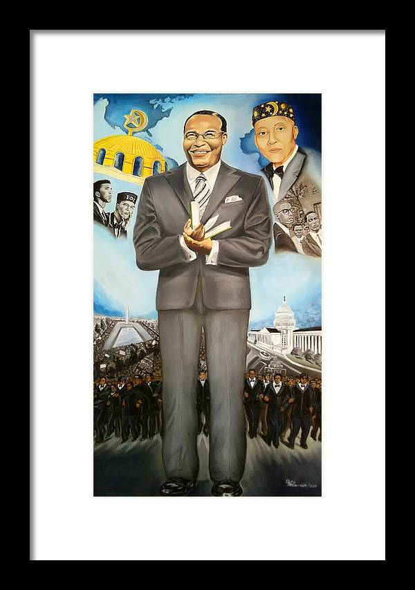 Nation Of Islam Framed Print featuring the painting It Takes A Nation by Vell Thomas