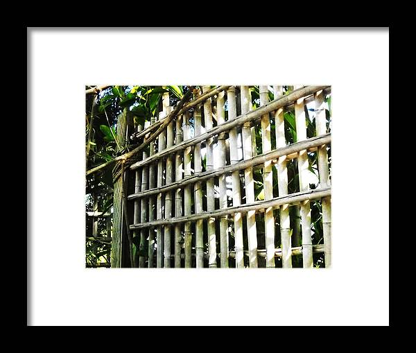 Old Fence- Framed Print featuring the photograph ..it Was A Better Time..... by Adolfo hector Penas alvarado