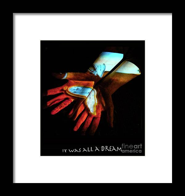 Surrealism Framed Print featuring the photograph It Was All A Dream by Chloe Malmquist