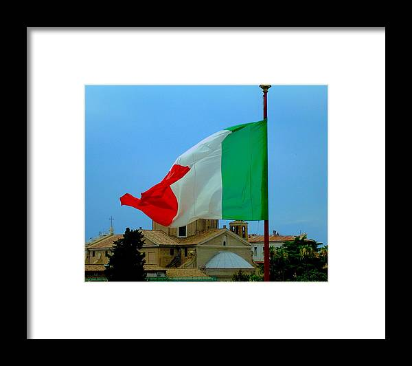 Flag Framed Print featuring the photograph Italian Colors by Caroline Stella
