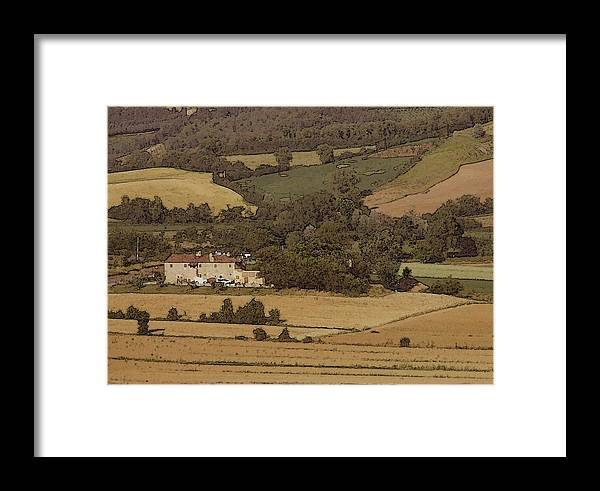 Landscape Framed Print featuring the photograph Italian Farmhouse by Chuck Shafer