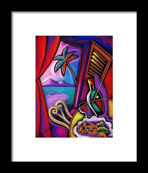 Alcohol Appetizing Cooking Delicious Dining Dinner Dish Eating Entertainment Europe Flavor Fork Fresh Furniture Glass Graphic Design Health Healthy Historical Landmark Illustration Italy Landmark Meal Mediterranean Menu New Nourishing Nutrition Nutritious Object Pasta Plate Ready Recreation Refreshment Restaurant Roma Rome Service Industry Snack Spaghetti Specialty Sun Sunshine Table Taste Tourist Attraction Twisting Vertical Wholesome Winding Wine Wine Glass Decorative Painting Abstract Art Framed Print featuring the painting Italian Food by Leon Zernitsky
