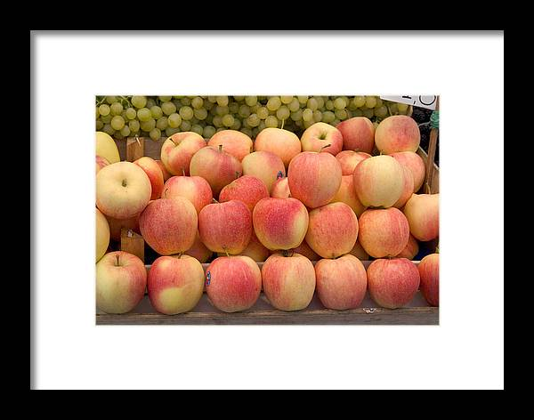 Apples Framed Print featuring the photograph Italian Fruit Display by Charles Ridgway