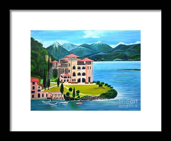James Bond Framed Print featuring the painting Italian Landscape-casino Royale by Manjiri Kanvinde