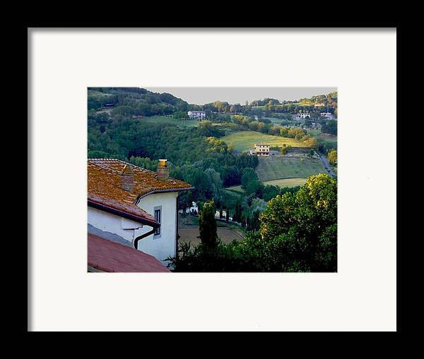 Landscape Framed Print featuring the photograph Italian Morn by Chuck Shafer