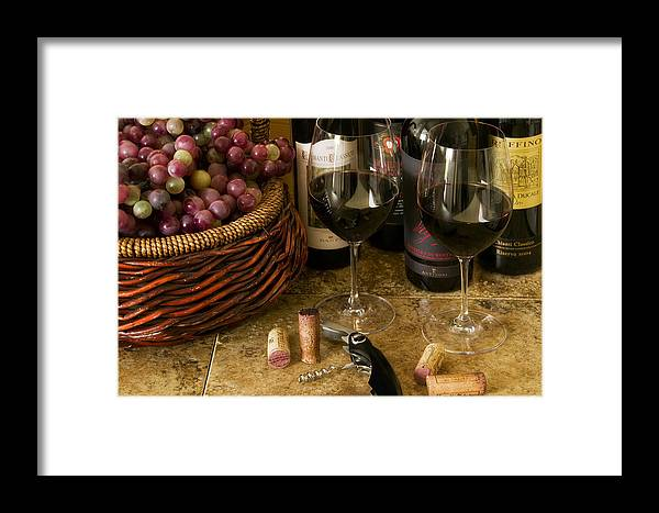 Wine Glasses Framed Print featuring the photograph Italian Reds by John Galbo
