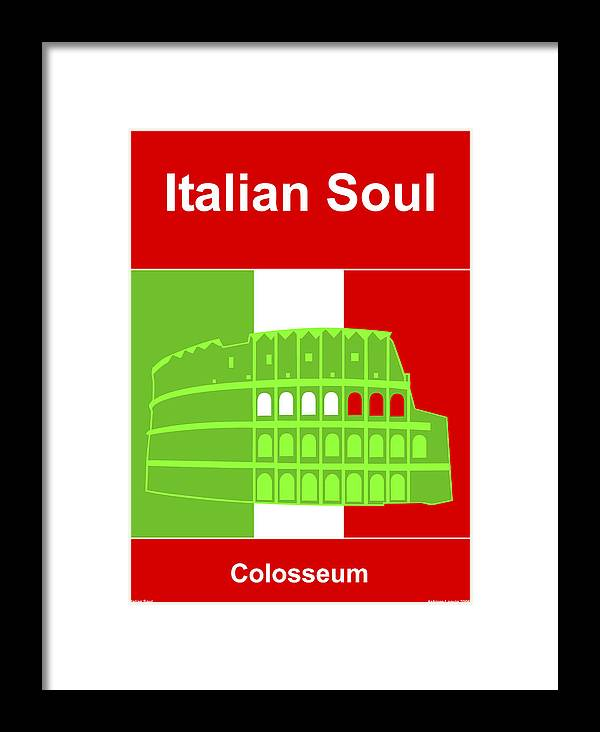 Italian Soul Framed Print featuring the digital art Italian Soul by Asbjorn Lonvig