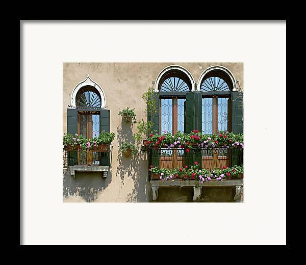 Windows Framed Print featuring the photograph Italian Windows by Julie Geiss