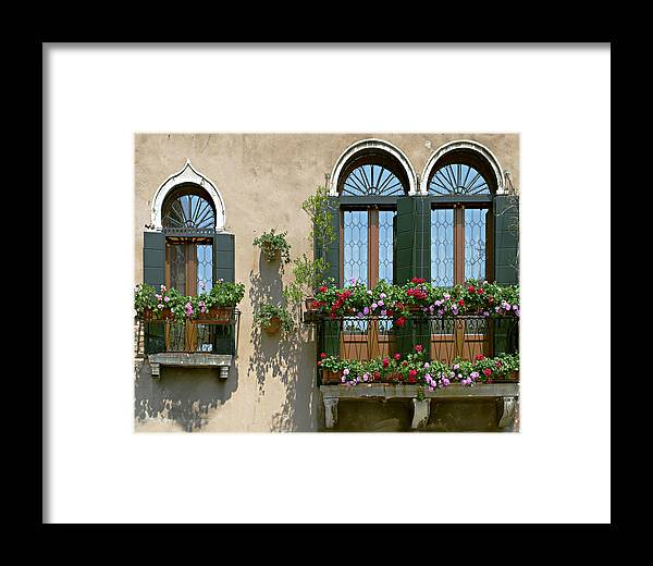 Windows Framed Print featuring the photograph Italian Windows by Julie Geiss