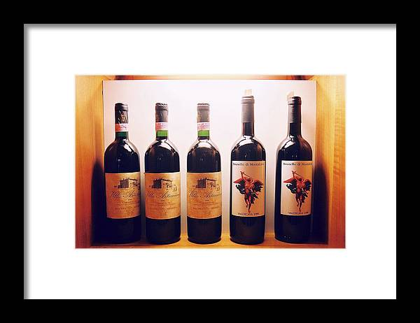 Wine Framed Print featuring the photograph Italian Wines by Kathy Schumann