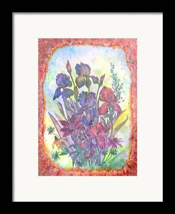 Floral Framed Print featuring the mixed media Itallian Garden by John Vandebrooke