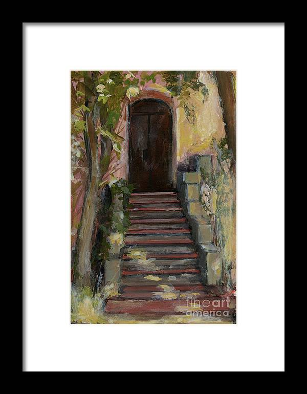 Landscape Framed Print featuring the painting Italy 002 - Somewhere In Sicily by Silvana Siudut