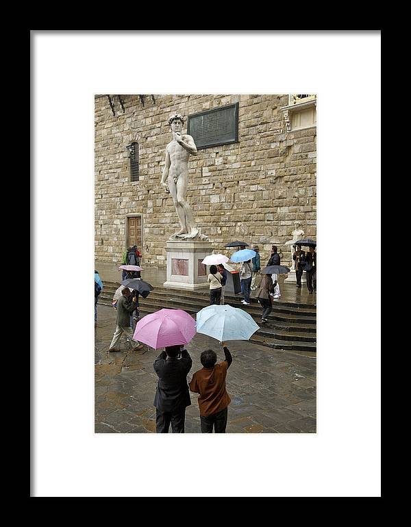 Architecture Framed Print featuring the photograph Italy, Florence, Piazza Della Signora by Keenpress
