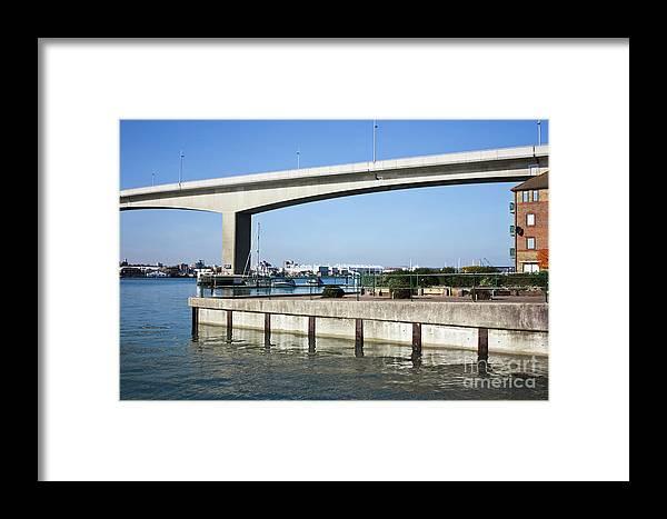 Itchen Bridge Southampton Framed Print featuring the photograph Itchen Bridge Southampton by Terri Waters
