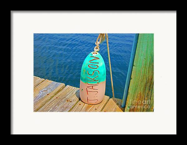 Water Framed Print featuring the photograph Its A Buoy by Debbi Granruth