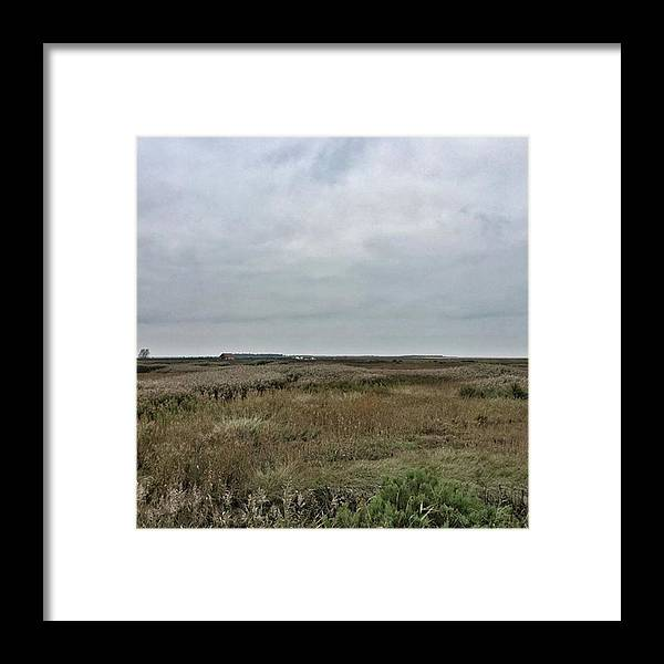 Natureonly Framed Print featuring the photograph It's A Grey Day In North Norfolk Today by John Edwards