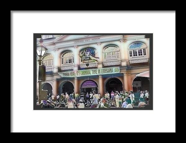 New Orleans Framed Print featuring the photograph It's Carnival Time by Linda Kish