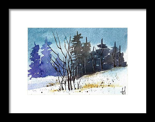 Snow Framed Print featuring the painting It's Cold Outside by Tonya Doughty