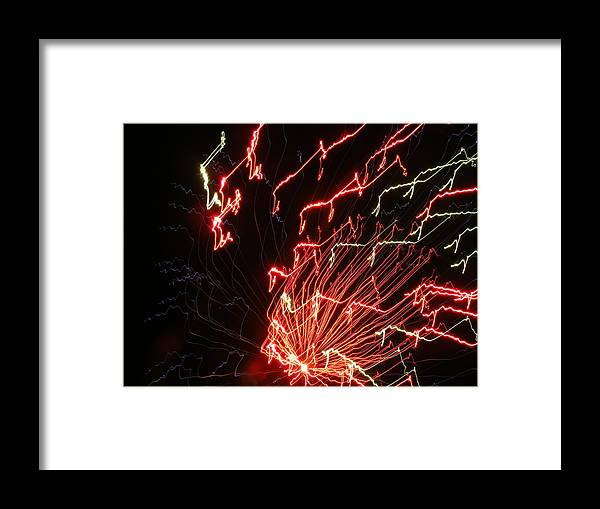 Fireworks Framed Print featuring the photograph Its Electric by James and Vickie Rankin