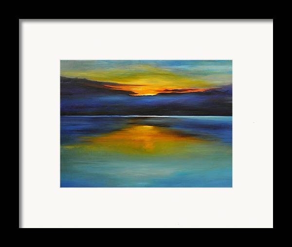 Sunset Framed Print featuring the painting Its Five Oclock Somewhere by Debbie Anderson