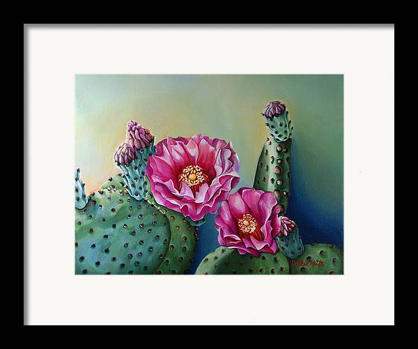 Landscape Framed Print featuring the painting Its Good To Have Buds by Gretchen Matta