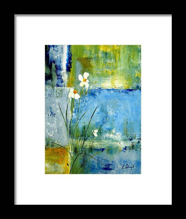 Abstract Framed Print featuring the painting It's Just You And Me by Ruth Palmer