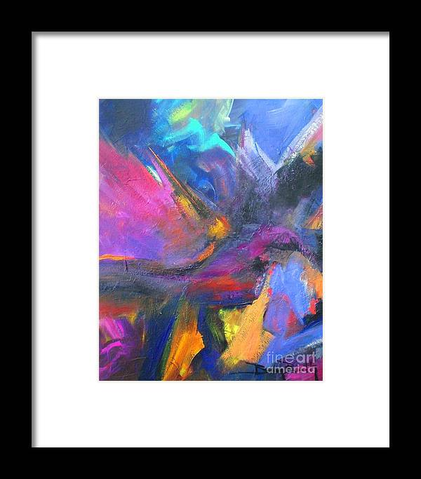 Abstract Framed Print featuring the painting Its Monday by Brian Booth