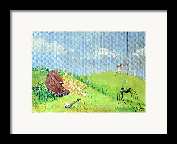 Itsy Bitsy Spider Framed Print featuring the mixed media Itsy Bitsy Spider by Jennifer Kelly