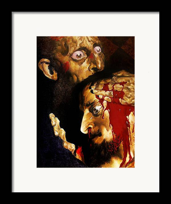 Man Framed Print featuring the painting Ivan D by Valeriy Mavlo