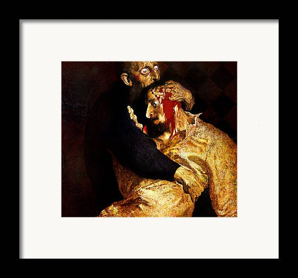 Man Framed Print featuring the painting Ivan by Valeriy Mavlo
