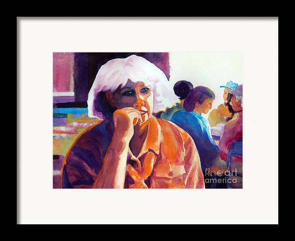 Paintings Framed Print featuring the painting I've Got A Secret by Kathy Braud