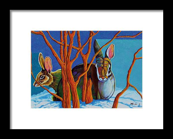 Wildlife Framed Print featuring the painting I've Got Your Back by Joe Triano