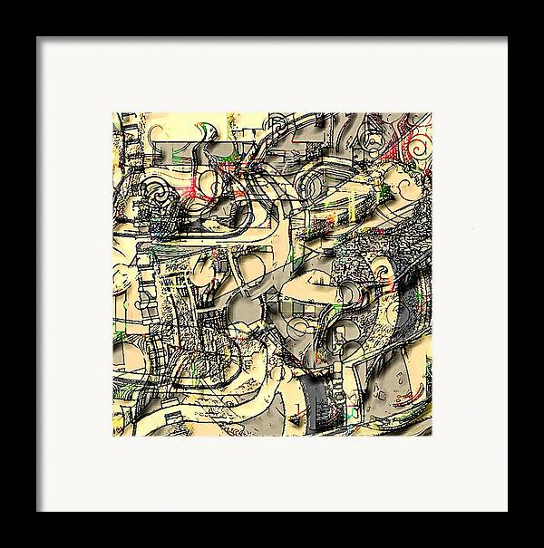Abstract Framed Print featuring the digital art Ivory by Dave Kwinter