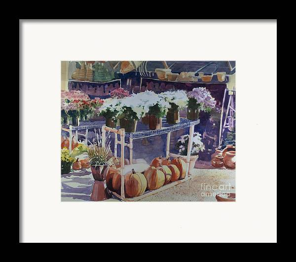 Gardenscape Framed Print featuring the painting Ivy Corners by Elizabeth Carr